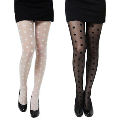 Dotted Tights - Women Sexy Sheer Lace Big Dot Pantyhose Stockings Tights Dots Shaping Socks
