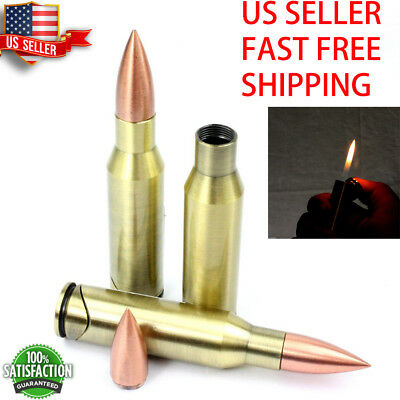 "Bullet Refillable Regular Flame lighter about 4"" long -FAST FREE SHIPPING"