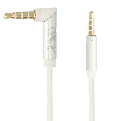 Cable JACK Macho Acodado ORO 0,5 MetroS 4 Polos Audio Micro 3,5mm...