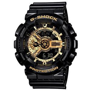 G-Shock Mens Black & Gold Watch. BESTSELLER. GA110GB-1A