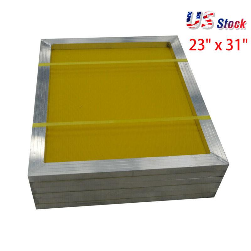 "6pcs Aluminum Silk Screen Frame - 230 Yellow Mesh 23"" x 31"" - USA Stock"