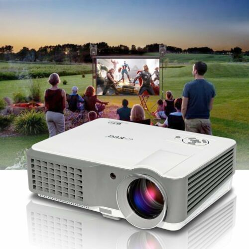 EUG HD 1080p Home Theater 4200LMS LED Projector Movie Night