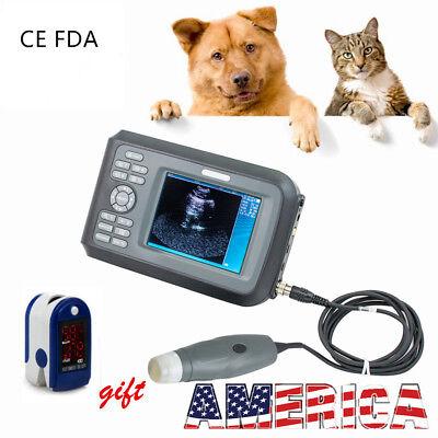 Portable Ultrasound Scanner Machine Handheld Pregnancy Animal Veterinary Case Us