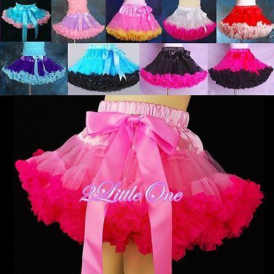 CLEARANCE SALE Girl Pettiskirt Petticoat Tutu Birthdat Party Skirt SZ 2T-7 - Birthdat Party