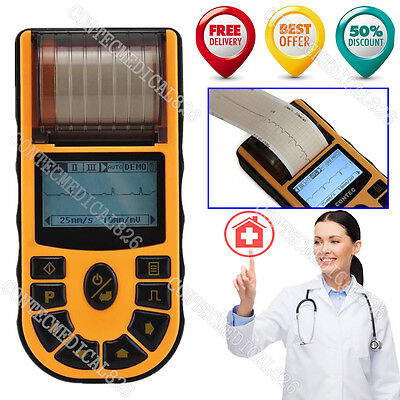 Us Fedex Fda Portable Ecg Ekg Machine Single Channel Electrocardiograph 12 Leads