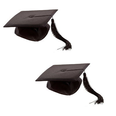 2 x Deluxe Bachelor Doktor Doctor Doktorhut Diplomhut College Abschluß Hut Mütze