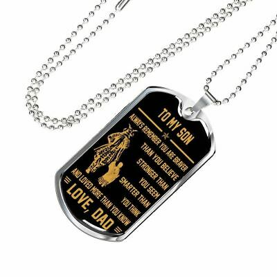 Samurai Son Dog Tag - Warrior Father Son Gift - Unique Birthday Gift For Boys ()