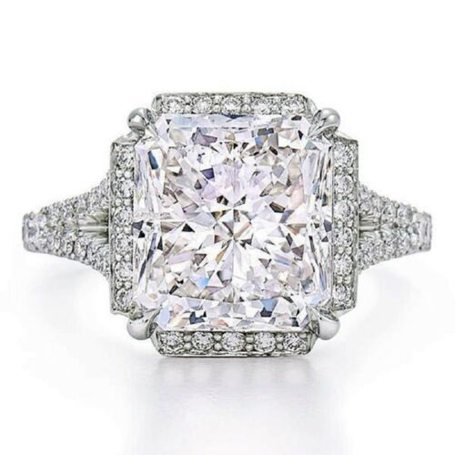 2.00 Carat GIA Radiant Cut Diamond Engagement Ring Platinum Halo Design