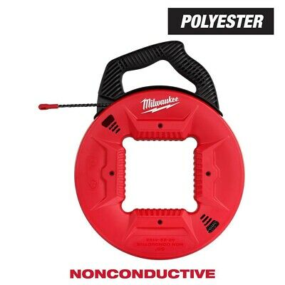 Milwaukee 48-22-4162 50 Polyester Fish Tape With Non-conductive Tip