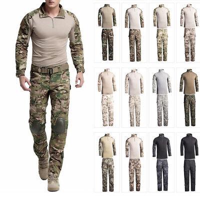 Men's Combat Uniform Shirt Pants Suit BDU Military Tactical Army Sets Cargo SWAT (Swat Uniform)