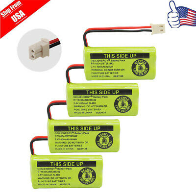 4X Cordless Phone Battery For BT-183342 BT283342 AT&T BT166342 Empire CPH-515J