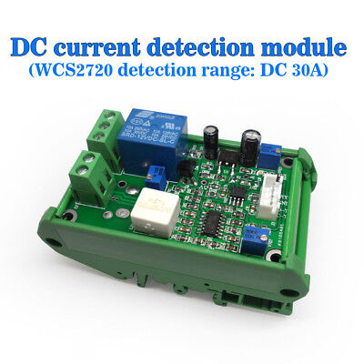 12v Wcs2720 Current Sensor Module Dc 0-30a Overcurrent Protection With Stand