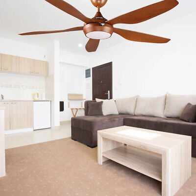 54'' Five-Blade Ceiling Fan Remote Control Modern Hand-painted Noiseless