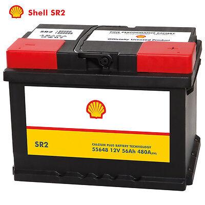 Shell SR2 Autobatterie 12V 56AH Starterbatterie ersetzt 44Ah 45Ah 52Ah 55Ah 60Ah