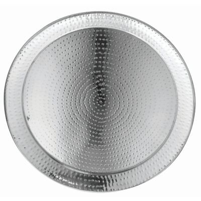 """HUBERT Serving Tray With Hammered Finish Round - 22""""Dia"""