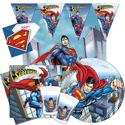 Superman Geburtstagsparty Range Tafelgeschirr & Dekorationen