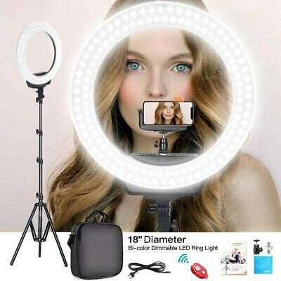 "18"" LED Photography Ring Light Dimmable 6500K Lighting Photo Video with Tripod"