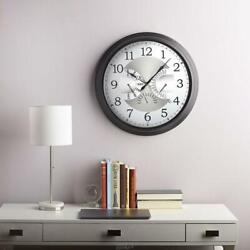 The Always Accurate Calendar Wall Clock Big Numbers Day and Date White face