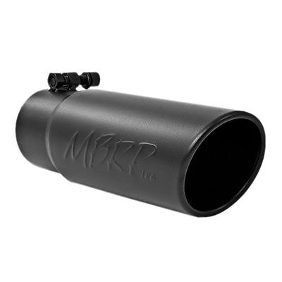 MBRP Tip 3 Roundx4 Inlet OD Dual Walled Angled Black Tip Fits all 3 Exhausts