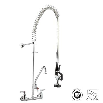 Commercial Pre-rinse Faucet Kitchen Dishwasher 12 Add-on Faucet Chrome Cupc Nsf