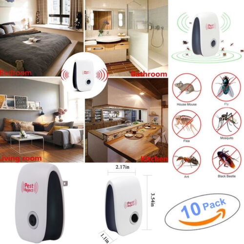 10x New Ultrasonic Electronic Anti Mosquito Pest Bug Insect Cockroach Repeller Home & Garden