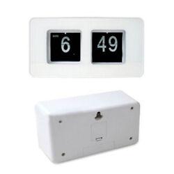 6.8''inch Retro Table Clock Flip Time Display Timepiece Flip Page Turning Clocks