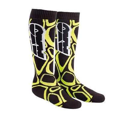 AXO MX Long Socks - Black/Yellow Adult One Size Fits Most Axo Mx Socks