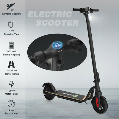 FOLDING KICK ELECTRIC SCOOTER 14MILES ALUMINUM PORTABLE URBAN ADULT E-SCOOTER