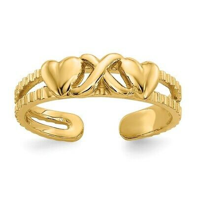 14k Yellow Gold Hearts Infinity Symbol Love Toe Ring  1.28 gr 14k Love Toe Ring