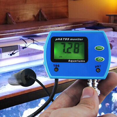 PH/TDS Meter Tester Aquarium Pool Hydroponic Water Quality Monitor Digital