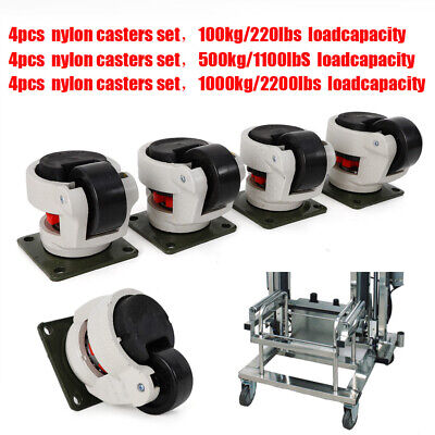 Industrial Casters Gd-406080f Level Adjust Nylon Wheel Load Bearing 100-1000kg