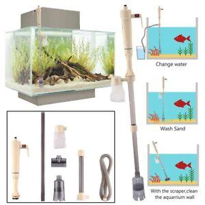 Aquarium Gravel Electric Fish Tank Vacuum Siphon Cleaner Pump Water UK SELLER