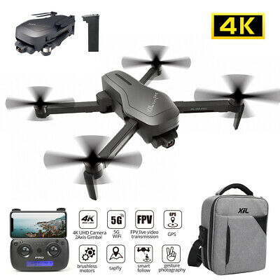 HS470 Foldable GPS RC Drone with 4K HD Camera 2 Axis Anti-Extract Gimbal Quad+Case