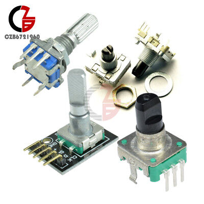 2pcs Rotary Encoder With Switch Ec111216 Audio Digital Potentiometer Handle