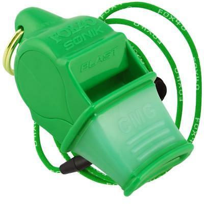 NEON GREEN Fox 40 SONIK BLAST CMG Whistle Official Coach Safety - FREE