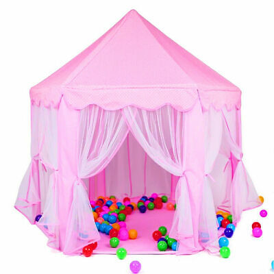 Princess Castle Play Tent for Girls Large Kids Hexagon Playhouse Indoor Toys