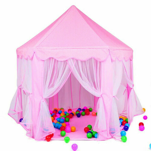 Princess Castle Play Tent for Girls Large Kids Hexagon Playh