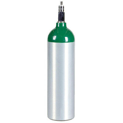New Jumbo D Aluminum Medical Oxygen Cylinder - 22.9 Cu Ft - Cga870 Post Valve