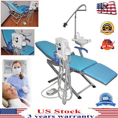 Dental Portable Folding Chairled Lightturbine Unitweak Suction 4 Hole Best