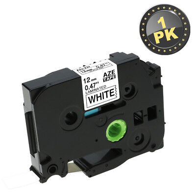 1pack Tz-231 Tze231 12mm Black On White Label Tape For Brother P-touch Series