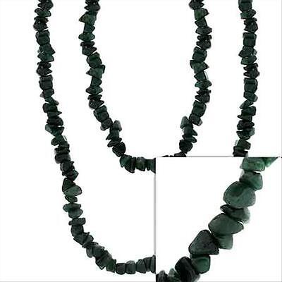 "Genuine Aventurine Stone Chip Strand Layer Necklace 36"""