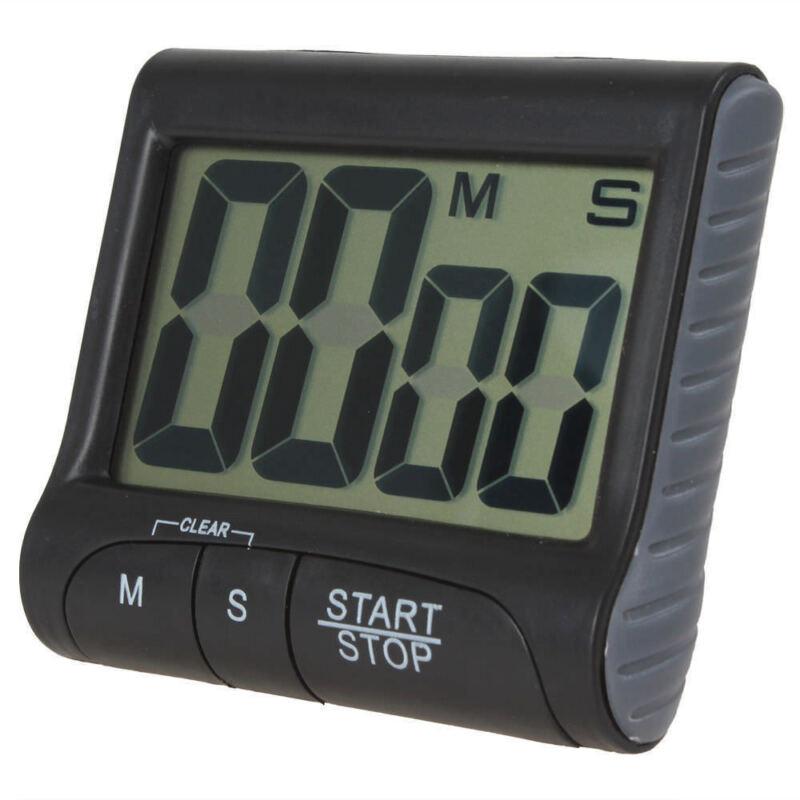 Digitale Eieruhr Küchentimer Kurzzeitmesser Alarm mit Magnet /& großes Display