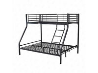 Brand new and boxed triple sleeper bunk bed. Double bottom, Single top.