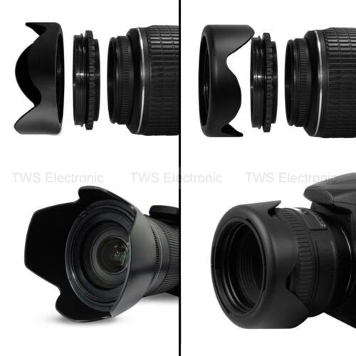 Gadget Place Crown Shaped Tulip Flower//Professional Universal Flower Petal Screw-On Lens Hood for Tamron SP AF 60mm F//2 Di II LD IF Macro