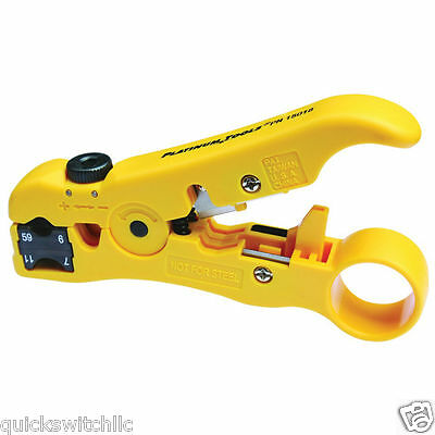 Platinum Tools All-in-one Stripping Tool Rg11 Rg7 Rg6q Rg6 Rg59 Cat5e Cat6 Cat6a