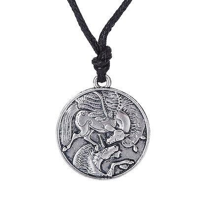 Pegasus and Unicorn Necklace Women Gothic Men Jewelry Supernatural Irish Amulet for sale  China