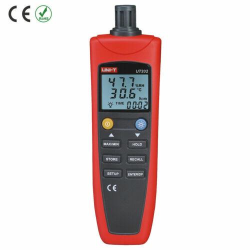 UNI-T UT332 Digital Thermo-hygrometer Temperature Humidity Moisture Meter Sen #
