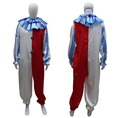 Men's Dammy The Clown Costume Jumpsuit Latex Mask Scary Halloween Circus HC-474 (Circus Costumes Men)