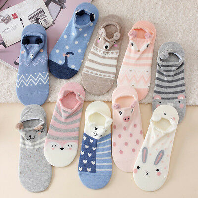 Cute Lovely Cartoon Animal Print Women Socks Ladies Girls Cotton Warm Soft (Cute Animal Print)