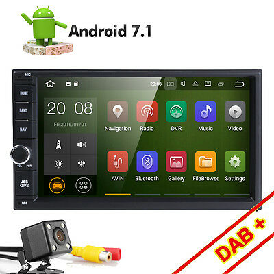 "Quad Core Android 7.1 4G WIFI 7"" Double 2DIN Car Radio Stereo No DVD Player GPS"